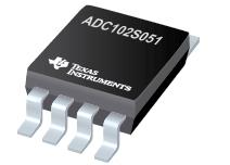 ADC102S051-双通道、200 ksps 至 500 ksps、10 位 A/D 转换器