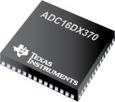 ADC16DX370-双路 16 位 370 MSPS ADC, 7.4 Gbps JESD204B 输出