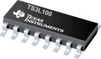 TS3L100-具有低导通电阻的四路 SPDT 宽带网络开关